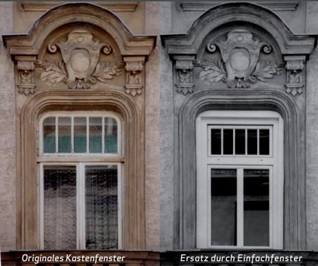 Originales Kastenfenster Ersatz durch Einfachfenster